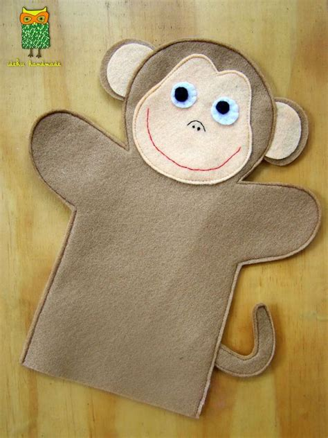 Handmade Felt Craft Patterns - monkey felt monkey pattern ideku handmade puppets
