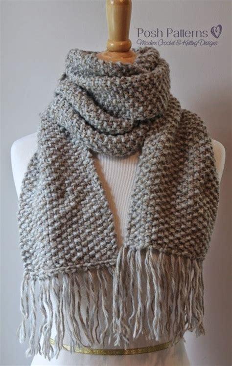free knitting pattern hair net elegant seed stitch scarf allfreeknitting com