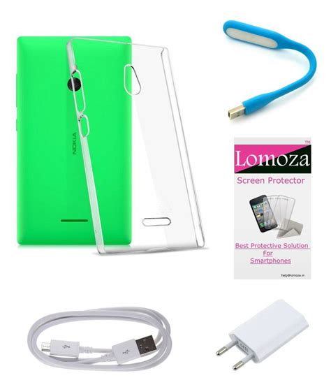 Tempered Glass Nokia X2 lomoza back cover for nokia x2 transparent with tempered glass usb power charger data cable