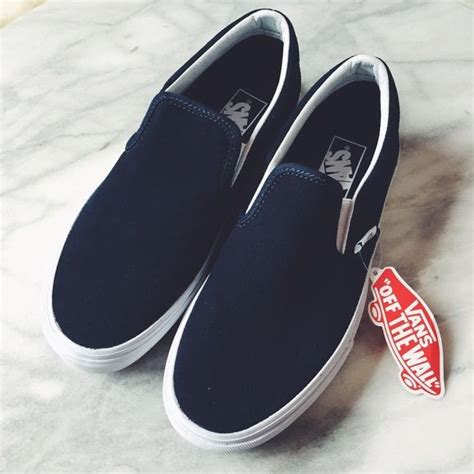 Adidas Slip On Suede Blue vans navy suede slip ons nwt shoes
