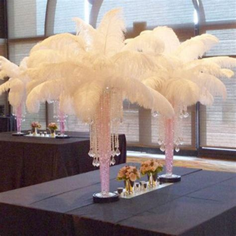 ostrich feather table centerpieces large ostrich feathers table centerpieces plume for wedding centerpiece ostrich feathers table