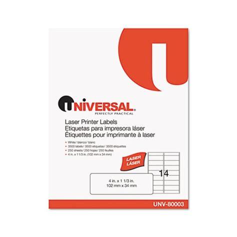 Universal Printer Labels Template