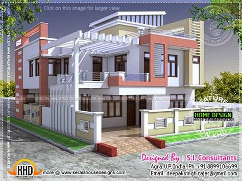 2400 sq feet modern contemporary villa kerala home design and floor plans modern indian house in 2400 square feet home kerala plans