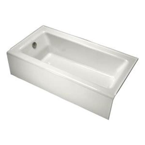 kohler bellwether 5 ft left drain soaking tub in white k