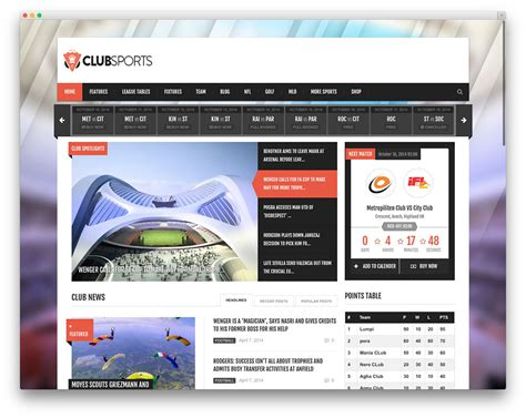 sports club template best sports themes for magazines and sports