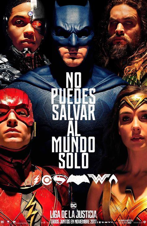 Kaos Superheroes Justice League You Can T Save The World Alone sdcc17 el nuevo p 243 ster de la liga de la justicia