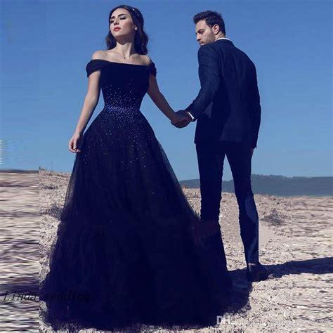 discount 2017 new tulle navy blue wedding dress arabic a