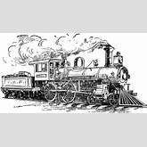 Train Engine Black And White Clipart - Clipart Kid