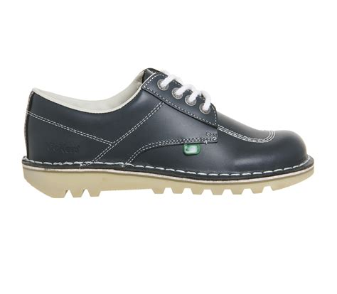 Kickers Slop Navy Murah 2 kickers kick lo navy leather flats