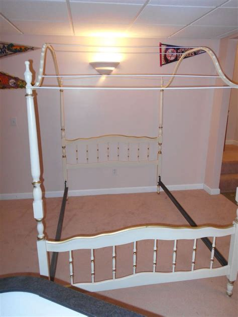 canopy bed frame full sears bonnet collection french provincial 4 poster canopy