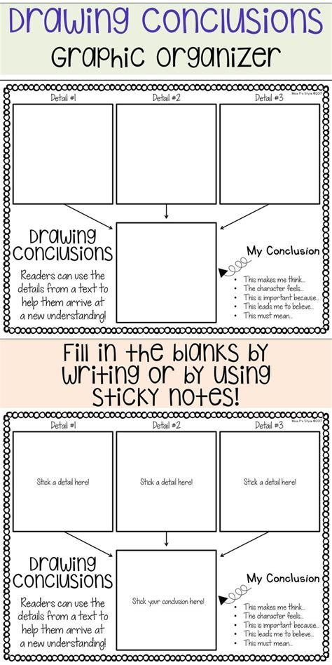 O Drawing Conclusions by Drawing Conclusions Graphic Organizer Pictures To Pin On
