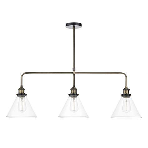 3 light pendant light 3 light bar pendant antique brass clear eames lighting