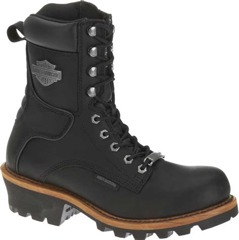 best leather motorcycle boots harley davidson men s tyson logger black 7 5 inch