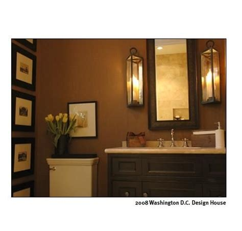 brown bathroom bathrooms bathroom neutral traditional lantern via