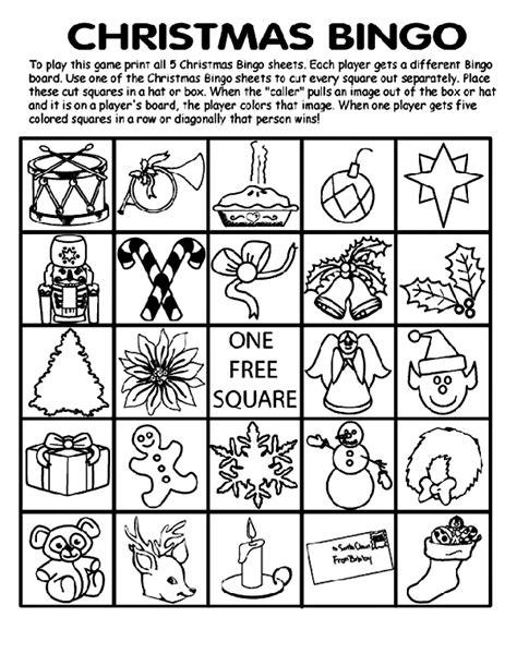 crayola coloring pages christmas crossword christmas bingo board no 5 crayola com au
