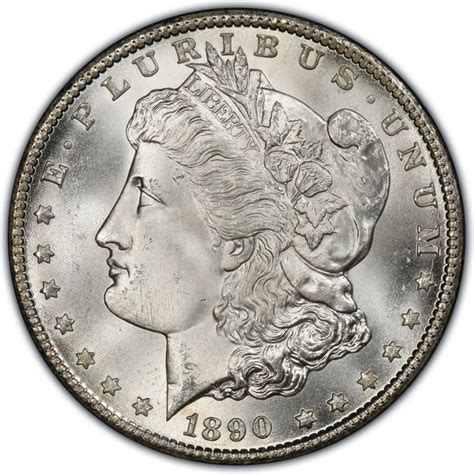 1890 morgan silver dollar values and prices past sales