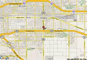 ontario california map ontario airport in ontario california mapquest auto cars