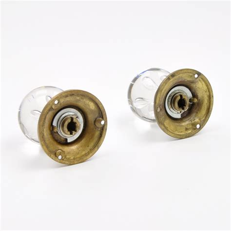 blown glass mortice knobs clear glass door knob set