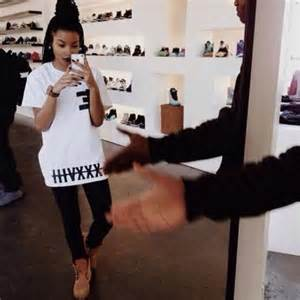 Black dope timberlands with outfits