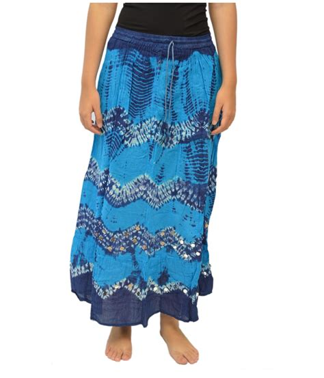 turquoise blue bandhej cotton skirt general category