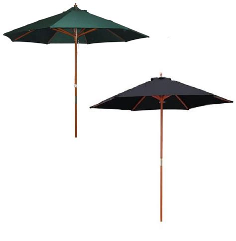 Large Umbrella For Patio 2 4m Garden Patio Parasol Umbrella Large Wooden Garden Furniture Parasol Green Ebay