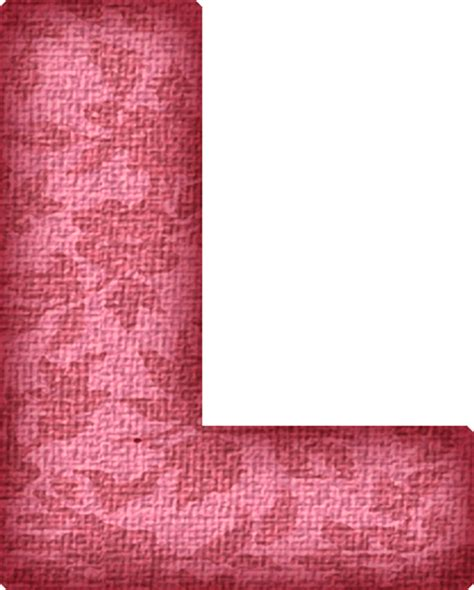 L Fabric by Presentation Alphabets Pink Flower Fabric Letter L