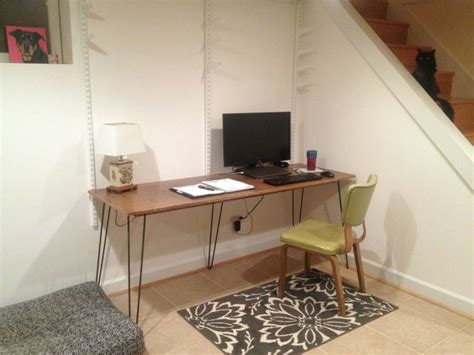 diy desk with hairpin legs 6 diy hairpin leg desk the borrowed abodethe