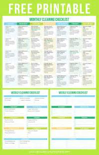 home schedule house cleaning printable house cleaning schedule for