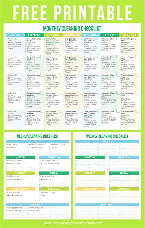 free cleaning checklist template the best free printable cleaning checklists titus