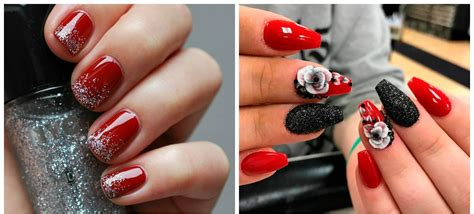 nail art latest glamourcom red nails 2018 fashionable trends and tendencies of red
