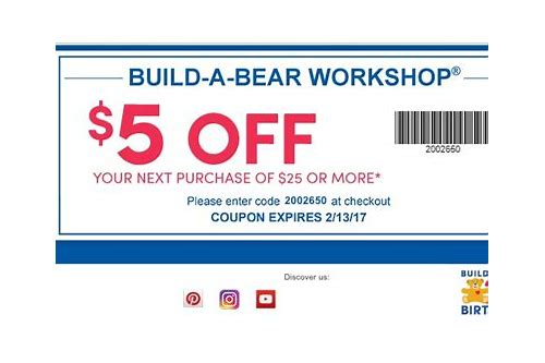 valid build a bear coupons 2018 in store