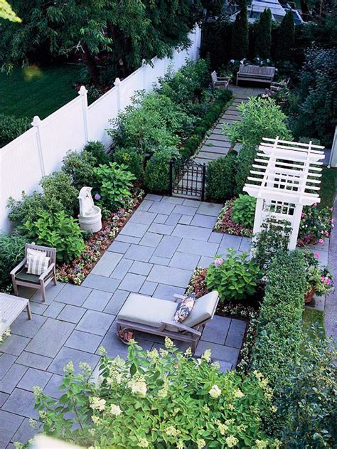 Small Narrow Garden Ideas Patio Landscaping Ideas Gardens Backyards And Side Yards