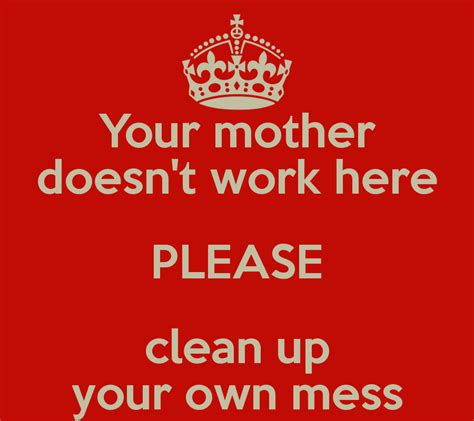 doesn t work on iphone your doesn t work here clean up your own mess poster jensjeppe keep calm o matic