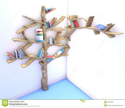 tree of knowledge bookshelf stock illustration image