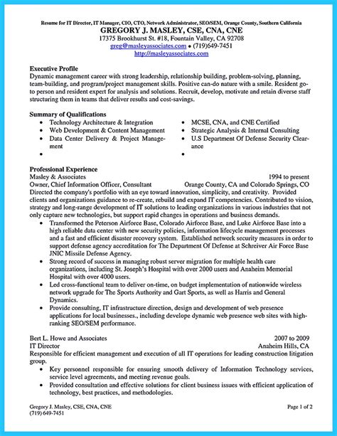 Cto Cover Letter outstanding cto resume for professionals