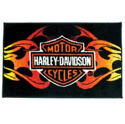 Tribal Area Rugs Leathers Harley Davidson Tribal Flame Rug 532 036