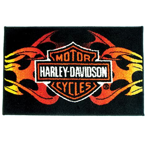 Harley Davidson Area Rugs by Leathers Harley Davidson Tribal Rug 532 036 J P Cycles