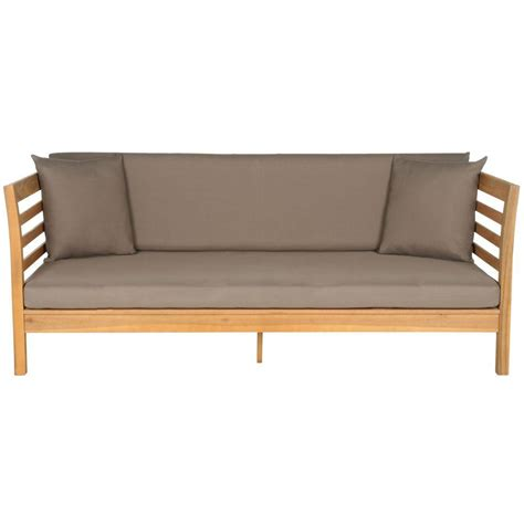 patio day bed safavieh malibu teak brown patio day bed with taupe