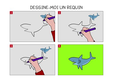 Apprendre 224 Dessiner Un Requin En 3 233 Tapes