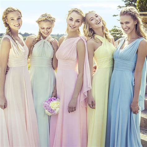 Siva Maxi Pink mismatched bridesmaid dresses how to master the trend hitched co uk
