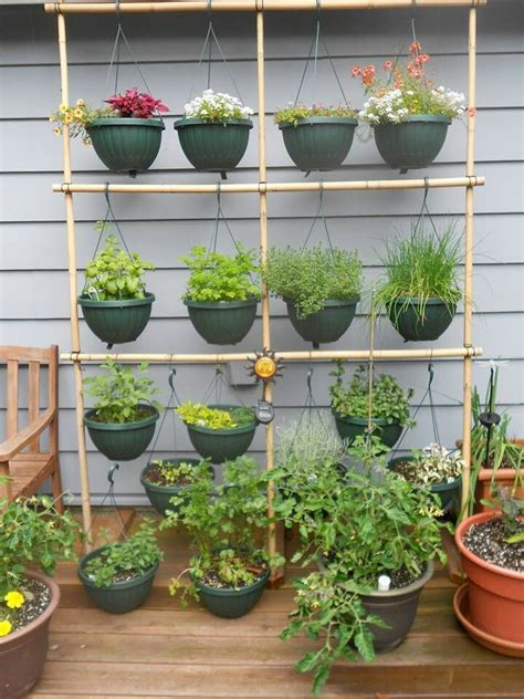 hanging herb planters hanging herb garden my secret garden pinterest