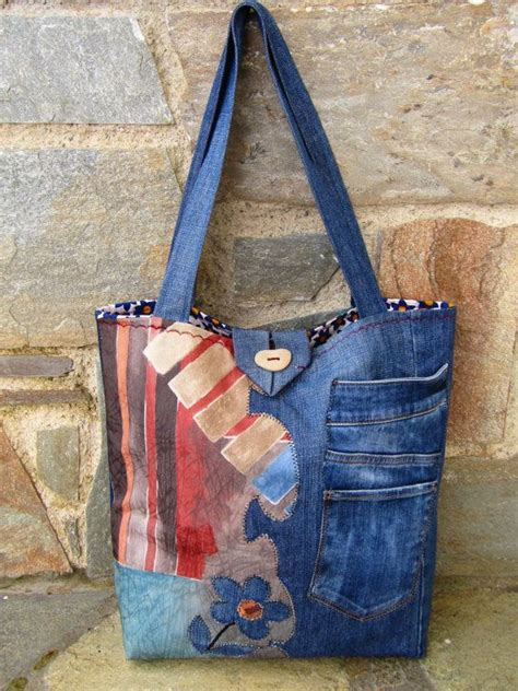 Tas Wanita Handmade Bags Delice Half 1000 images about upcycling denim ideas on jean bag denim flowers and denim quilts