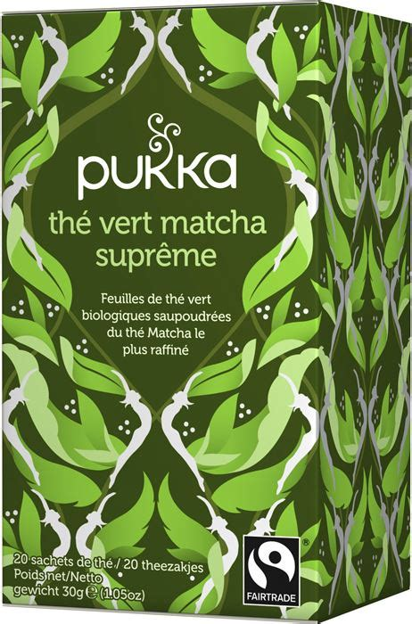 Jus Detox Green Supreme th 233 ayurvedique bio th 233 vert matcha supr 234 me pukka 30g