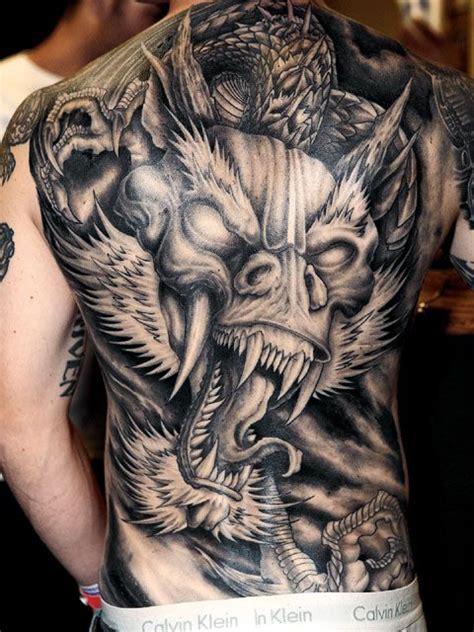 Tattoo designs: dragon full back tattoo