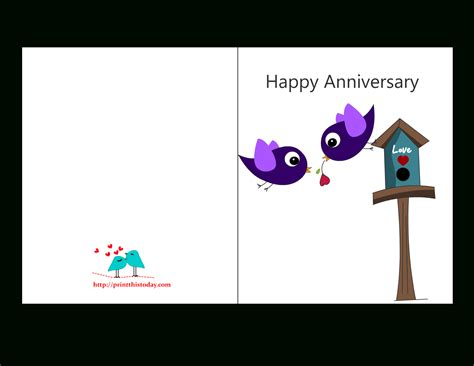 Anniversary Card Template For Husband by Free Printable Anniversary Cards For Husband