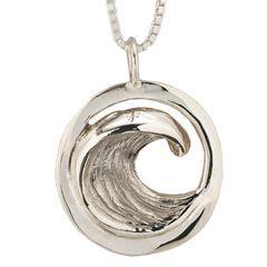 The Perfection Handmade Jewelry - pendants s s wave pendant handmade jewelry