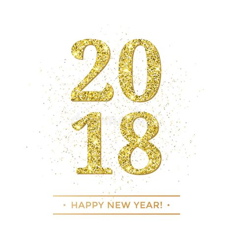 new year texture vector gold 2018 happy new year vector on white background banner