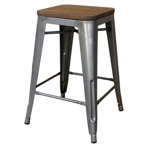Wooden Stools Target by Hden Industrial Wood Top 24 Quot Counter Stool Me Target