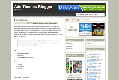 blogger templates for advertising download ads themes blogger template