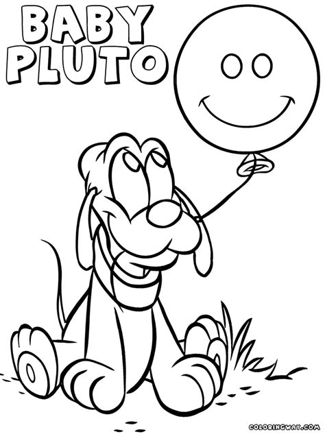 pluto coloring pages pluto baby coloring pages coloring pages to and